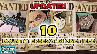 TERBARU !! 10 HARGA BOUNTY TERBESAR (ONE PIECE)