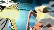 Borsalino intercepts Luffy