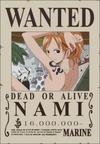 Cartel de recompensa de Nami