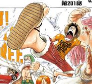Rozdział 201 Luffy w pomarańczowej koszulce z napisem One thing I can tell you is...