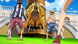 Straw Hat Pirates Meet Shiki