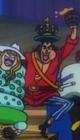 Vestimenta alternativa de Oden en los Piratas de Barbablanca