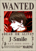 J-Smile Wanted Poster