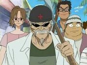 Dr. Nakoh prend les armes avec les habitants de Kokoyashi