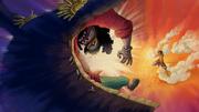 Luffy Menggunakan Jet Pistol ke Blackbeard