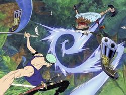 Zoro sconfigge Braham