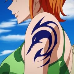 Nami con il tatuaggio di Arlong