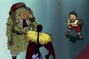 Akisu affrontant Pin Joker