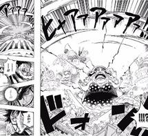 Big Mom libera una explosión de haoshoku haki
