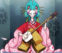 Hiyori Playing a Shamisen