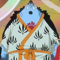 Vestimenta de Jinbe en el arco de la Isla Gyojin