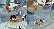 Luffy vs momonga dalmata
