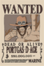 Portgas D. Ace's Wanted Poster