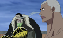 Crocodile and Daz Bones Before Marineford