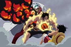 Sakazuki uccide Ace
