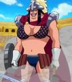 Vue complète du corps d'Acilia dans l'anime