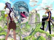 Bataille dans les ruines