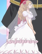 Charlotte Pudding in Her Wedding Dress