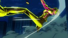Luffy derrota al golem de Tesoro