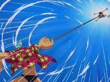 Monkey D. Luffy kontra Franky kontra Galley-La