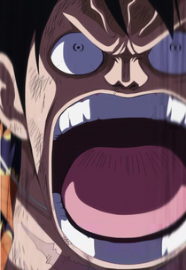Anger Luffy on the Doflamingo