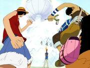 Luffy Usopp und Karuh gegen Mr3