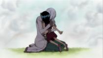 Nico Olvia and Robin hug