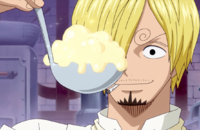 Sanji Finishes the Whipped Cream
