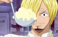 Sanji Finishes the Whipped Cream
