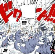 Luffy uses haki