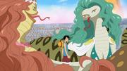 Luffy vs Sandersonia et Marigold