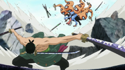 Zoro derrota a Hyouzou
