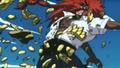 Armure d'El Drago brisée par Luffy