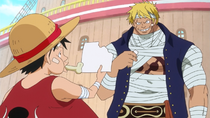 Bellamy Takes Piece of Luffy's Vivre Card