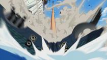 Luffy Destroys a Warship