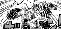Luffy pierwszy celny strzał