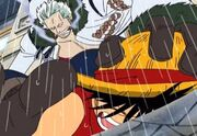 Ruffy VS Captain Smoker