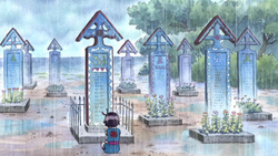 Kodama Visits Her Parents' Grave