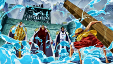 Luffy vs los 3 Almirantes