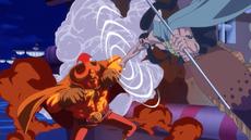 Aladine ataca a Oven