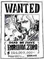 Wanted Zoro 120 000 000