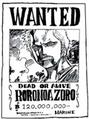 Wanted Zoro 120 000 000