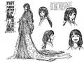 Bocetos de Kikuhime