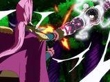 Monkey D. Luffy und Nami gegen Charlotte Cracker