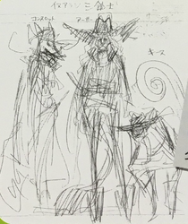 Three Inuarashi Musketeer Concept Art