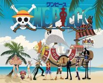 Vector one piece straw hat pirates family portrait 156885