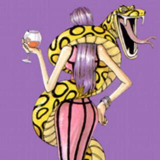 Eine Vorschau auf eine künftige Hancock, von Oda 1999 für das Cover der Shonen Jump erstellt.