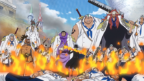 Sabo Confronts the Marines