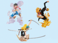 One Piece Combo Attack Figure - Gomu Gomu no Diable Santoryu Mouton Jet Roppyaku Pound Cannon