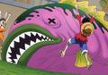 Poisson-Pierre renforcé de la mer Chaude-chaude Anime